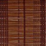 Bambú fino marrón oscuro urdimbre algodon